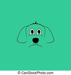 chien, simple, fond