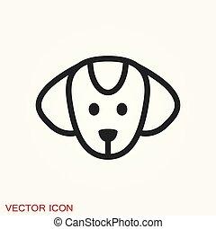 chien, ton, vecteur, icon., élément, conception