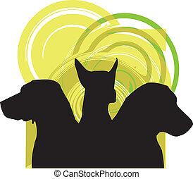chien, vecteur, illustration
