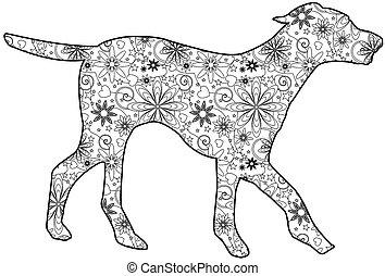 chien, zentangle