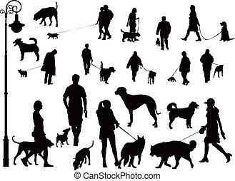 chiens, gens