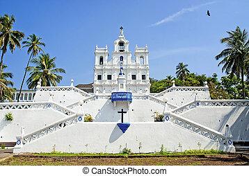 chiesa, di, mary, concezione immacolata, in, panaji, goa, india