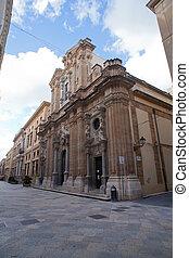 chiesa, gesuiti, trapani, colleggio, dei, del