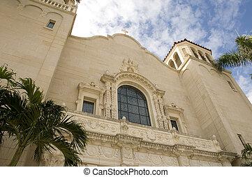 chiesa, in, spiaggia palma occidentale