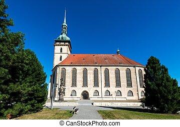 chiesa, la maggior parte, mary, assunzione, vergine