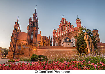 chiese, in, vilnius, lituania