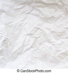 chiffonné, vecteur, paper., texture