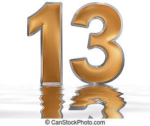 13 nombre or 3d clipart recherchez illustrations for Le chiffre treize