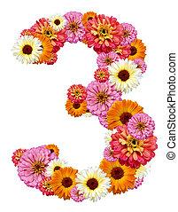 chiffre, arabe, trois