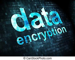 chiffrement, protection, fond, numérique, données, concept: