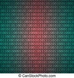 chiffres, binaire, modèle, résumé, seamless, une, sombre, zéro