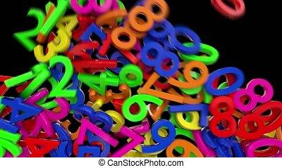 chiffres, chiffres, école, calcul, écran, nombres, financier...