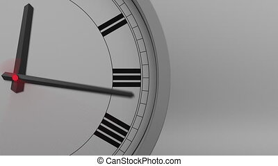chiffres, horloge, défaillance, romain, action., 4k, temps, ...