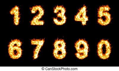 chiffres, loopable, brûlé