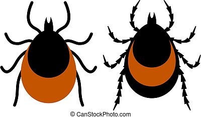 Chigger and tick vector icon
