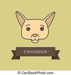 Chihuahua breed dog for logo design