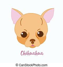 chihuahua, chien, vecteur