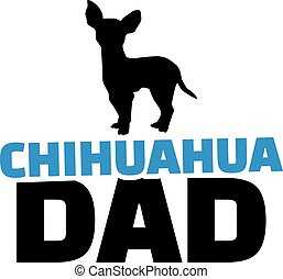 Chihuahua dad with dog silhouette