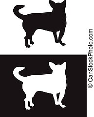 Chihuahua dog breed - silhouette