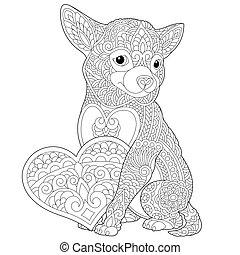 Chihuahua valentine. A cute little chihuahua with ...