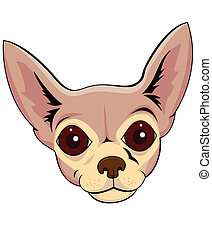 Chihuahua head cartoon