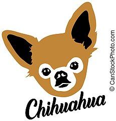 Chihuahua head with name