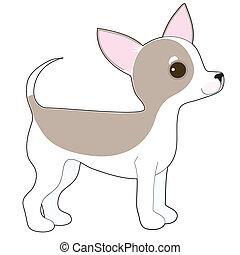 Chihuahua - A cartoon drawing of a cute little Chihuahua