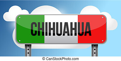 chihuahua Mexico road street sign