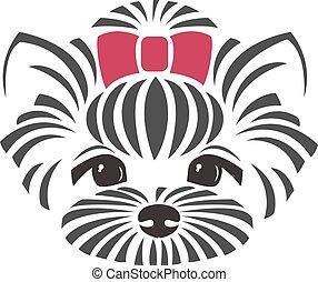 chihuahua, pes, -, vektor, ilustrace
