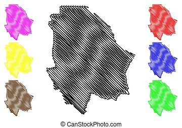 Chihuahua - state map