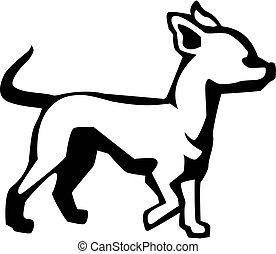 vector drawing of a chihuahua dog
