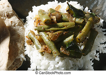 Chikkudu Kaaya Vepudu is a spicy Broad beans fry. This can be served as side dish for meals and with rotis. Chikkudu kaya(beans) is major ingredient for this dish.