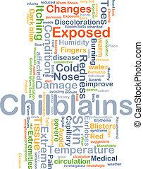 Chilblains background concept