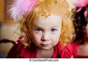 Child, a little beautiful girl