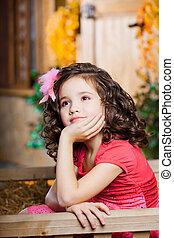 Child , a little beautiful girl