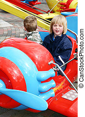 child aeroplane amusement park