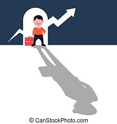 Child Ambition Dream to be Successful Businessman