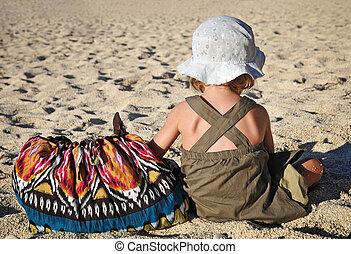 Child and bag