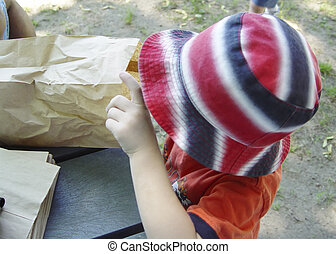 Child and Bag