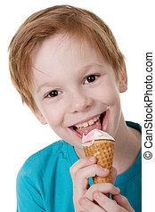 Child and ice cream