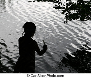 child and water