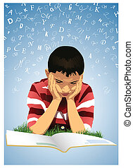 Child and words