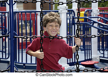 Child at Play - Photo of a Child Playing in a Park - Leisure...