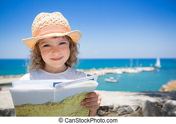 Child at the beach
