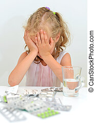 Child ate tablets. Dangerous situation at home.