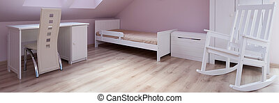 Child bedroom designed in pink