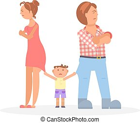 child between quarreling parents