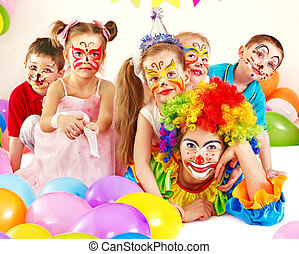 Child birthday party . - Child happy birthday party .