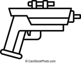 Child blaster icon, outline style