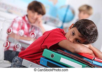 Child bored at school
